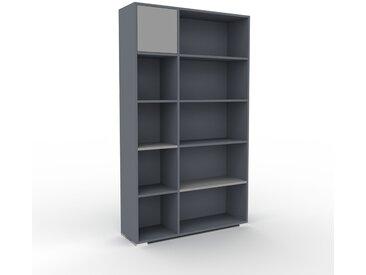 Aktenregal Anthrazit - Flexibles Büroregal: Türen in Grau - Hochwertige Materialien - 116 x 196 x 35 cm, konfigurierbar
