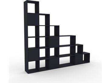 Wohnwand Anthrazit - Individuelle Designer-Regalwand: Türen in Anthrazit - Hochwertige Materialien - 270 x 233 x 35 cm, Konfigurator