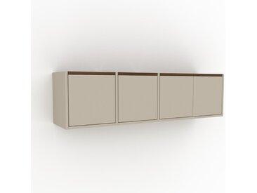 Hängeschrank Taupe - Moderner Wandschrank: Türen in Taupe - 154 x 41 x 35 cm, konfigurierbar