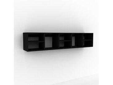 Hängeschrank Schwarz - Moderner Wandschrank: Hochwertige Qualität, einzigartiges Design - 195 x 41 x 35 cm, konfigurierbar