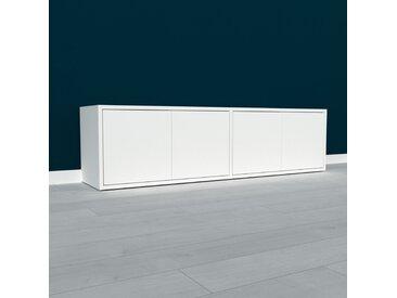 Lowboard Weiß - Designer-TV-Board: Türen in Weiß - Hochwertige Materialien - 152 x 41 x 35 cm, Komplett anpassbar