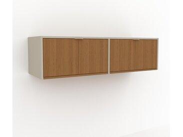 Hängeschrank Eiche - Moderner Wandschrank: Türen in Eiche - 152 x 41 x 47 cm, konfigurierbar