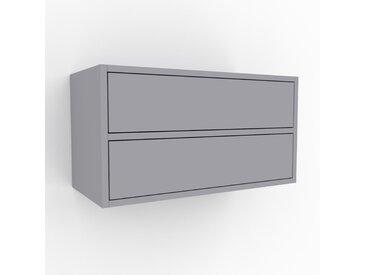 Hängeschrank Lichtgrau - Moderner Wandschrank: Schubladen in Lichtgrau - 77 x 41 x 35 cm, konfigurierbar
