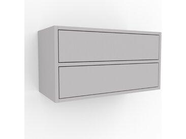 Hängeschrank Hellgrau - Moderner Wandschrank: Schubladen in Hellgrau - 77 x 41 x 35 cm, konfigurierbar