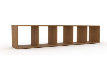 Lowboard Eiche, Holz - Designer-TV-Board: Hochwertige Qualität, einzigartiges Design - 195 x 41 x 35 cm, Komplett anpassbar