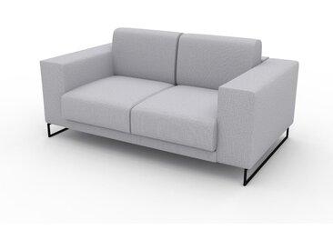 Sofa 2-Sitzer Lichtgrau Feingewebe - Elegantes, gemütliches 2-Sitzer Sofa: Hochwertige Qualität, einzigartiges Design - 168 x 75 x 98 cm, konfigurierbar