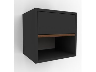 Hängeschrank Graphitgrau - Moderner Wandschrank: Schubladen in Graphitgrau - 41 x 41 x 35 cm, konfigurierbar