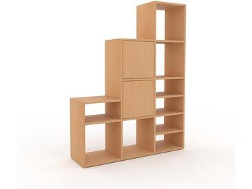 Regalsystem Buche - Flexibles Regalsystem: Türen in Buche - Hochwertige Materialien - 118 x 157 x 35 cm, Komplett anpassbar
