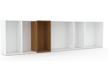 Schallplattenregal Weiß - Modernes Regal für Schallplatten: Hochwertige Qualität, einzigartiges Design - 306 x 80 x 35 cm, Selbst designen