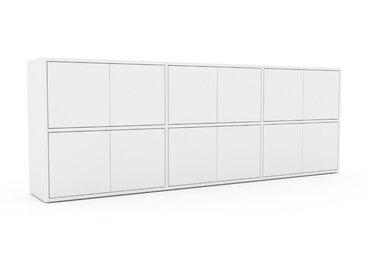 Sideboard Weiß - Designer-Sideboard: Türen in Weiß - Hochwertige Materialien - 226 x 80 x 35 cm, Individuell konfigurierbar