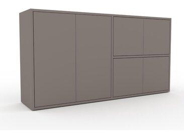 Sideboard Grau - Designer-Sideboard: Türen in Grau - Hochwertige Materialien - 152 x 80 x 35 cm, Individuell konfigurierbar