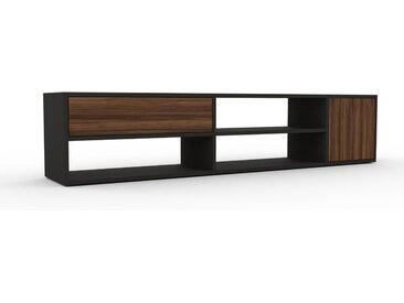 Lowboard Nussbaum - TV-Board: Schubladen in Nussbaum & Türen in Nussbaum - Hochwertige Materialien - 190 x 41 x 35 cm, Komplett anpassbar