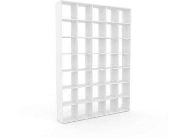 Bücherregal Weiß - Modernes Regal für Bücher: Hochwertige Qualität, einzigartiges Design - 195 x 272 x 35 cm, Individuell konfigurierbar