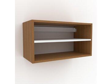 Hängeschrank Eiche, Holz - Moderner Wandschrank: Hochwertige Qualität, einzigartiges Design - 77 x 41 x 35 cm, konfigurierbar