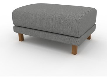 Polsterhocker Granitweiß - Eleganter Polsterhocker: Hochwertige Qualität, einzigartiges Design - 80 x 42 x 60 cm, Individuell konfigurierbar