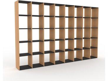 Bücherregal Graphitgrau - Modernes Regal für Bücher: Hochwertige Qualität, einzigartiges Design - 310 x 195 x 35 cm, Individuell konfigurierbar