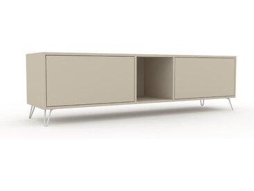Lowboard Taupe - Designer-TV-Board: Schubladen in Taupe - Hochwertige Materialien - 190 x 53 x 47 cm, Komplett anpassbar