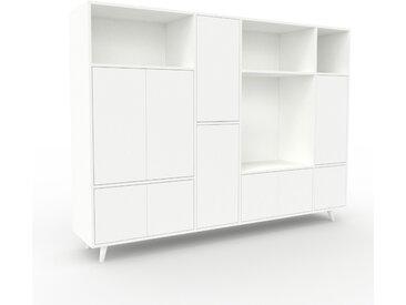 Aktenschrank Weiß - Flexibler Büroschrank: Türen in Weiß - Hochwertige Materialien - 229 x 168 x 47 cm, Modular