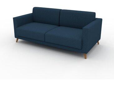 Sofa 2-Sitzer Ozeanblau Feingewebe - Elegantes, gemütliches 2-Sitzer Sofa: Hochwertige Qualität, einzigartiges Design - 185 x 75 x 98 cm, konfigurierbar