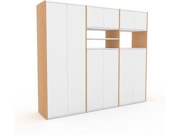 Schrank Weiß - Moderner Schrank: Türen in Weiß - Hochwertige Materialien - 226 x 195 x 47 cm, Selbst zusammenstellen