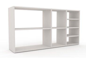 Schallplattenregal Weiß - Modernes Regal für Schallplatten: Hochwertige Qualität, einzigartiges Design - 154 x 80 x 35 cm, Selbst designen