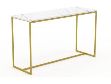 Konsolentisch Marmor, Weißer Carrara, mit Gold - Eleganter Konsolentisch: Beste Qualität, einzigartiges Design - 121 x 71 x 42 cm, konfigurierbar