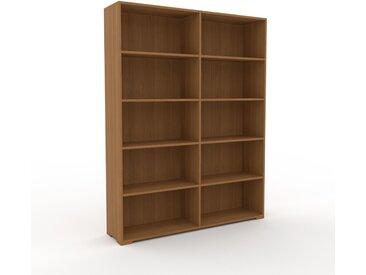 Aktenregal Eiche, Holz - Flexibles Büroregal: Hochwertige Qualität, einzigartiges Design - 152 x 196 x 35 cm, konfigurierbar