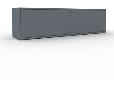 Lowboard Anthrazit - Designer-TV-Board: Türen in Anthrazit - Hochwertige Materialien - 152 x 41 x 35 cm, Komplett anpassbar