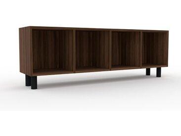 Schallplattenregal Nussbaum, Holz - Modernes Regal für Schallplatten: Hochwertige Qualität, einzigartiges Design - 156 x 53 x 35 cm, Selbst designen