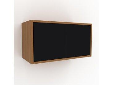 Hängeschrank Schwarz - Moderner Wandschrank: Türen in Schwarz - 77 x 41 x 35 cm, konfigurierbar