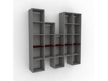 Hängeschrank Grau - Moderner Wandschrank: Hochwertige Qualität, einzigartiges Design - 195 x 195 x 35 cm, konfigurierbar