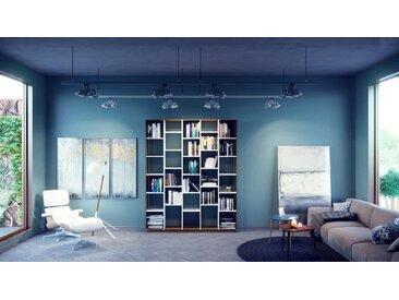 Bücherregal Weiß - Modernes Regal für Bücher: Hochwertige Qualität, einzigartiges Design - 195 x 239 x 35 cm, Individuell konfigurierbar