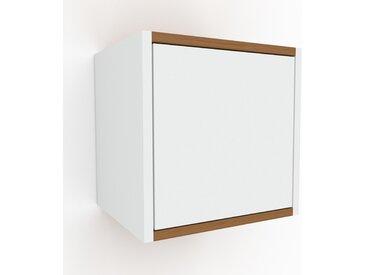Hängeschrank Weiß - Moderner Wandschrank: Türen in Weiß - 41 x 41 x 35 cm, konfigurierbar