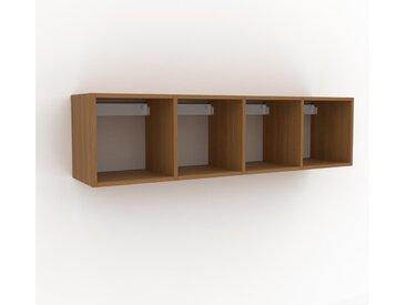 Hängeschrank Eiche, Holz - Moderner Wandschrank: Hochwertige Qualität, einzigartiges Design - 156 x 41 x 35 cm, konfigurierbar