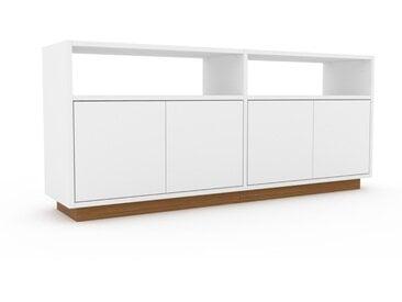 Sideboard Weiß - Designer-Sideboard: Türen in Weiß - Hochwertige Materialien - 152 x 66 x 35 cm, Individuell konfigurierbar
