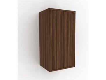 Hängeschrank Nussbaum - Moderner Wandschrank: Türen in Nussbaum - 41 x 80 x 35 cm, konfigurierbar