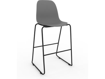Barhocker in Grau 49 x 112 x 58 cm einzigartiges Design, konfigurierbar