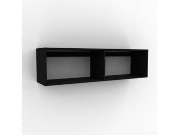 Hängeschrank Schwarz - Moderner Wandschrank: Hochwertige Qualität, einzigartiges Design - 152 x 41 x 35 cm, konfigurierbar