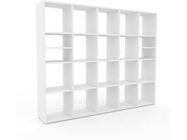 Bücherregal Weiß - Modernes Regal für Bücher: Hochwertige Qualität, einzigartiges Design - 195 x 157 x 35 cm, Individuell konfigurierbar