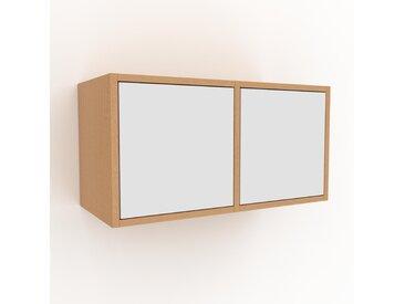 Hängeschrank Weiß - Moderner Wandschrank: Türen in Weiß - 79 x 41 x 35 cm, konfigurierbar