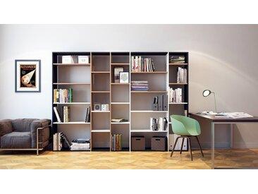 Bücherregal Buche, Holz - Modernes Regal für Bücher: Hochwertige Qualität, einzigartiges Design - 267 x 195 x 35 cm, konfigurierbar