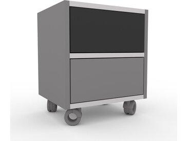Rollcontainer Grau - Moderner Rollcontainer: Schubladen in Grau - 41 x 49 x 35 cm, konfigurierbar