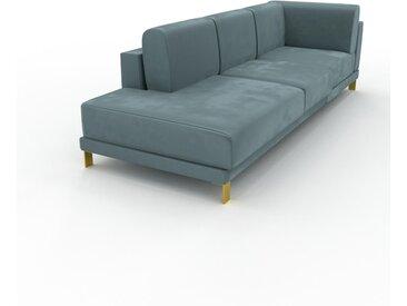 Sofa 2-Sitzer Samt Ozeangrün Samt - Elegantes, gemütliches 2-Sitzer Sofa: Hochwertige Qualität, einzigartiges Design - 98 x 75 x 254 cm, konfigurierbar