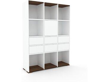 Aktenregal Weiß - Büroregal: Schubladen in Weiß & Türen in Weiß - Hochwertige Materialien - 118 x 158 x 35 cm, konfigurierbar