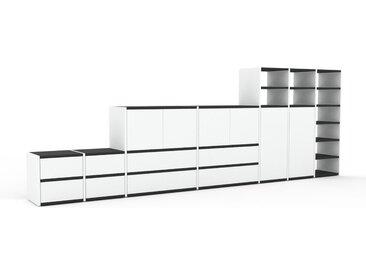 Sideboard Weiß - Sideboard: Schubladen in Weiß & Türen in Weiß - Hochwertige Materialien - 344 x 118 x 35 cm, konfigurierbar