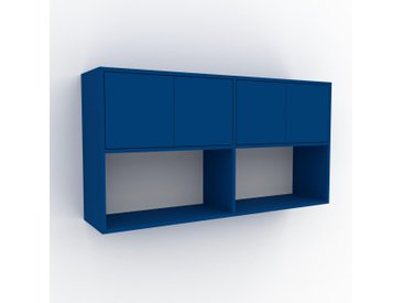 Hängeschrank Marineblau - Moderner Wandschrank: Türen in Marineblau - 152 x 80 x 35 cm, konfigurierbar