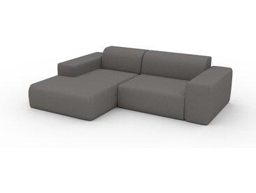 Sofa 2-Sitzer Taupegrau Strukturgewebe - Elegantes, gemütliches 2-Sitzer Sofa: Hochwertige Qualität, einzigartiges Design - 243 x 72 x 168 cm, konfigurierbar