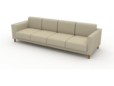Sofa Naturweiß - Moderne Designer-Couch: Hochwertige Qualität, einzigartiges Design - 276 x 75 x 98 cm, Komplett anpassbar