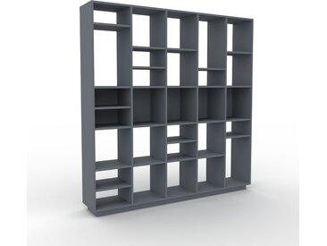 Bücherregal Anthrazit - Modernes Regal für Bücher: Hochwertige Qualität, einzigartiges Design - 195 x 200 x 35 cm, Individuell konfigurierbar