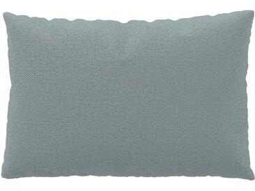 Kissen - Lichtgrau, 40x60cm - Webstoff, individuell konfigurierbar